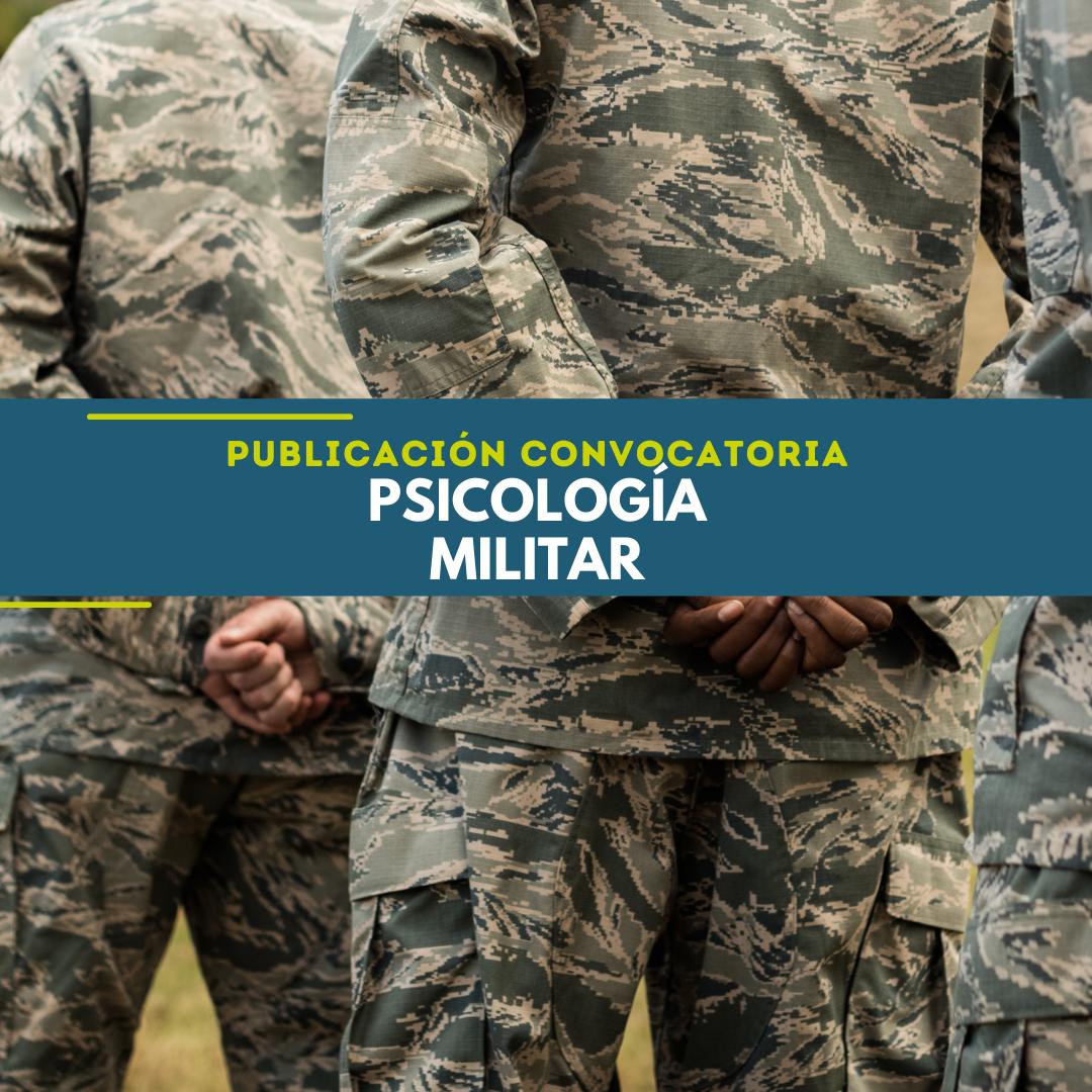 Publicación Convocatoria Psicología Militar